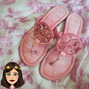 Tory burch croc miller sandals